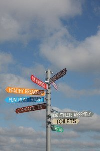 Country Show signpost