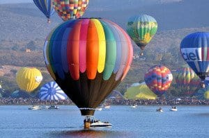 Hot air ballooning festival