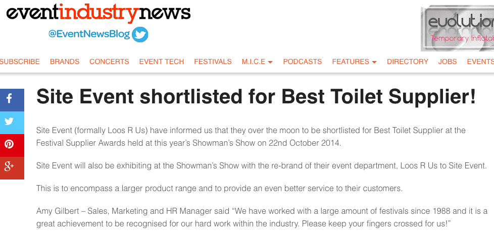 Best Toilets Event Industry News
