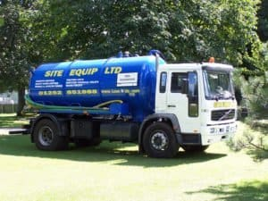 Large tanker emptying from Site Equip