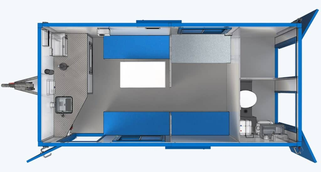 what is the difference between a welfare unit and a cabin