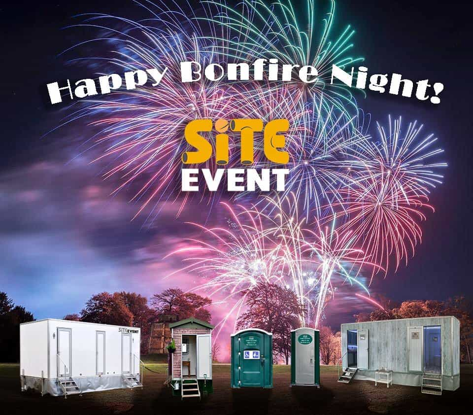 book your loos for fireworks night!