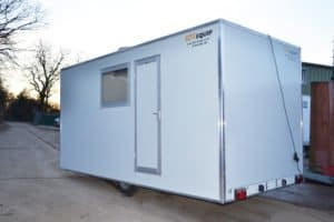 Wheeled site office hire